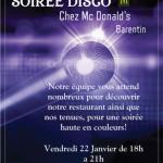 Soirée disco restaurant McDonald's barentin